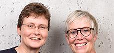 Die LNVG-Geschäftsführerinnen Carmen Schwabl und Susanne Haack